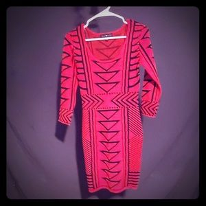 Derek heart red and black dress size M